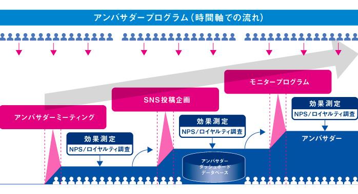 図:アンバサダープログラム(時間軸での流れ)