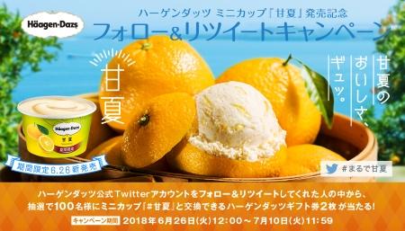 ハーゲンダッツ ミニカップ『甘夏』 発売記念 フォロー&リツイートキャンペーン