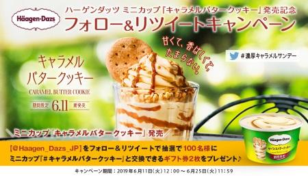 ハーゲンダッツ ミニカップ『キャラメルバタークッキー』 発売記念 フォロー&リツイートキャンペーン